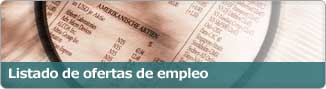 Listado de ofertas de empleo